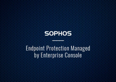 Sophos Endpoint Protection Managed by Enterprise Console